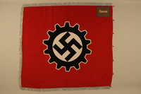 2016.208.2a side B Deutsche Arbeitsfront swastika and cogwheel banner acquired by a US POW  Click to enlarge