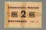 Buchenwald Standort-Kantine concentration camp scrip, 2 Reichsmark