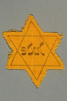 2016.324.1 back Unused Star of David badge  Click to enlarge