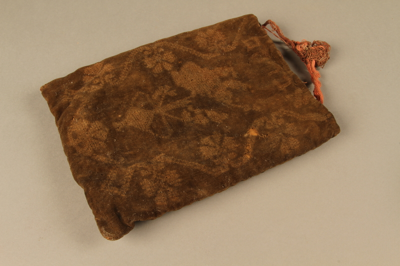 2006.516.4 c side a Pair of Tefillin and pouch owned by a Romanian Jewish concentration camp survivor