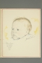 Drawing of an infant by Ervin Abadi given to a US soldier