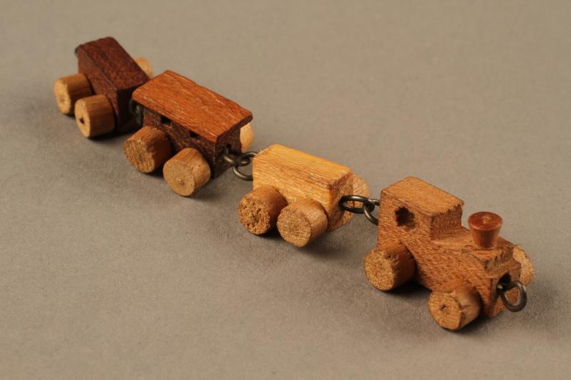 2016.251.2 3/4 view Miniature wooden train