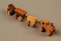 2016.251.2 3/4 view Miniature wooden train  Click to enlarge