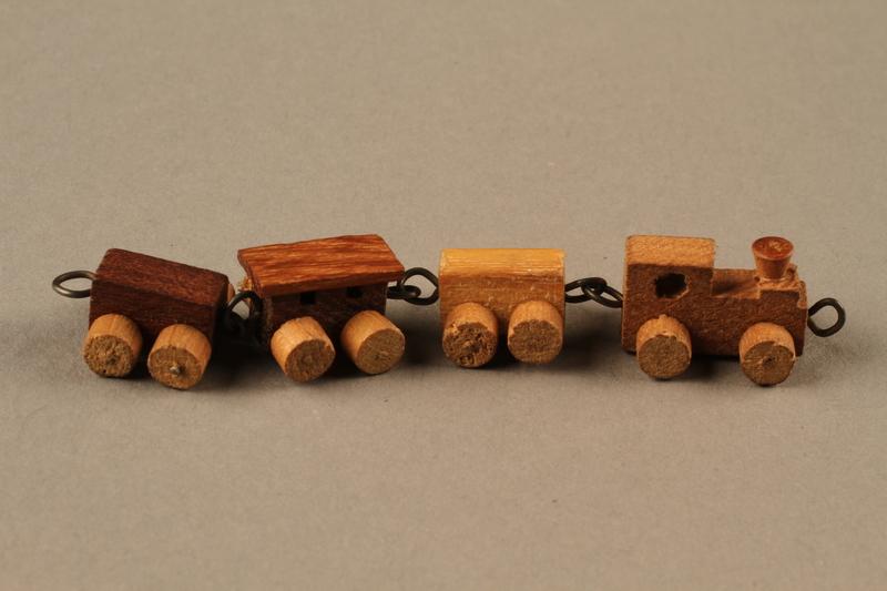 2016.251.2 right Miniature wooden train