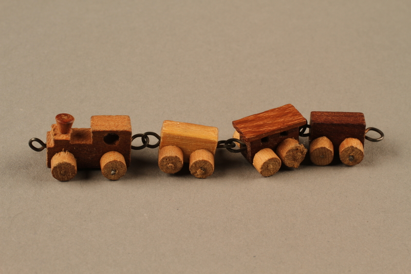 2016.251.2 left Miniature wooden train
