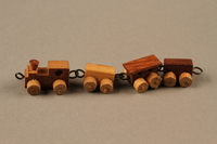 2016.251.2 left Miniature wooden train  Click to enlarge