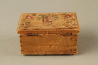 2016.256.2 back Wooden box with carved and painted floral decorations  Click to enlarge
