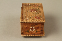 2016.256.2 right Wooden box with carved and painted floral decorations  Click to enlarge