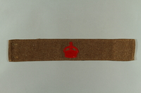 2016.322.2 front British military armband acquired by a Jewish emigre serving in the US Army  Click to enlarge
