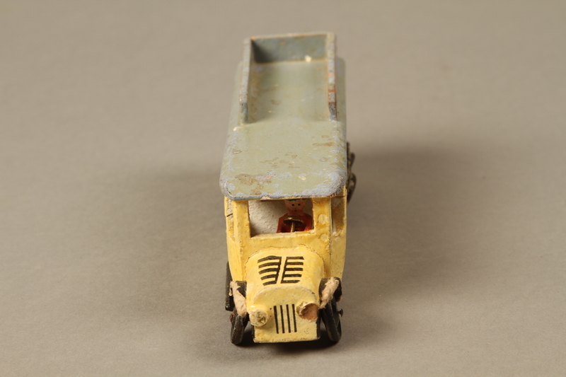 2016.220.2_a front Wooden toy bus owned by a Czechoslovakian Jewish girl
