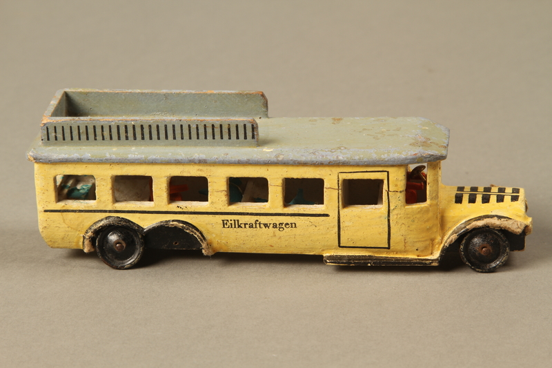 2016.220.2_a right Wooden toy bus owned by a Czechoslovakian Jewish girl