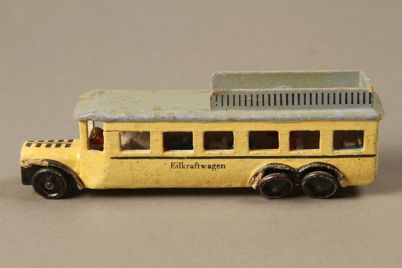 2016.220.2_a left Wooden toy bus owned by a Czechoslovakian Jewish girl