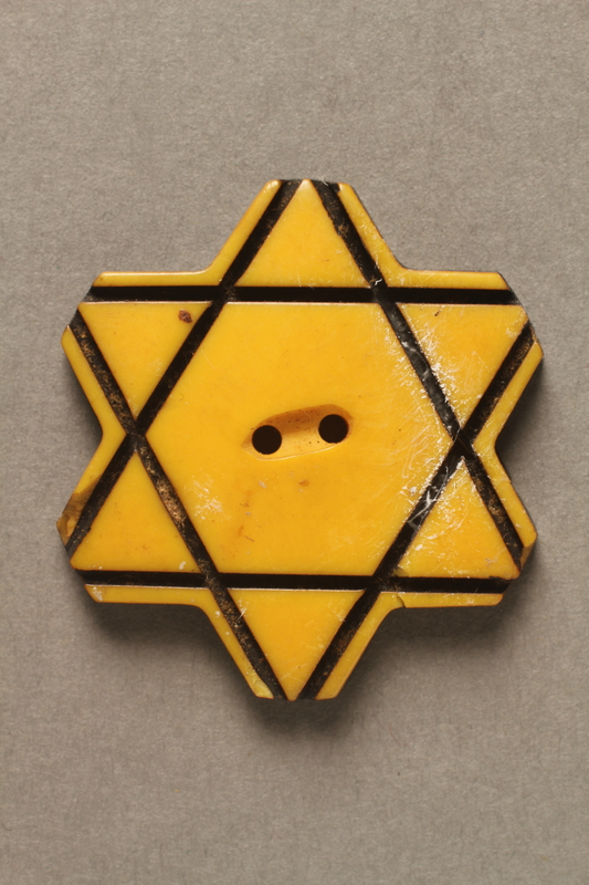 2015.586.3 front Bulgarian Jewish star button
