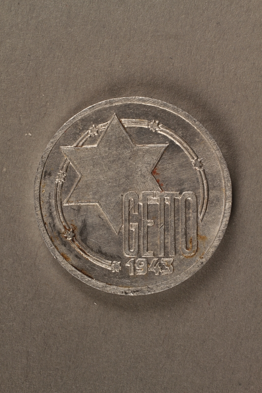 2015.586.5 front Łódź (Litzmannstadt) ghetto scrip, 10 mark coin