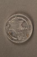 2015.586.5 front Łódź (Litzmannstadt) ghetto scrip, 10 mark coin  Click to enlarge