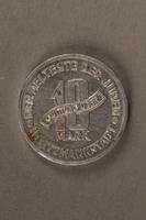2015.586.5 back Łódź (Litzmannstadt) ghetto scrip, 10 mark coin  Click to enlarge