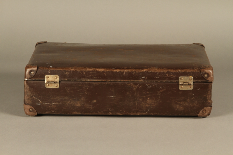 2016.352.2 back Suitcase used by German Jewish refugees