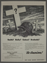 War bonds poster with a soldier's helmet by a white cross grave marker