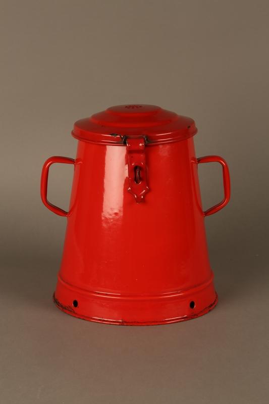 2016.372.2 front Red metal pot