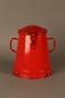 Red metal pot