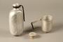 Mess kit metal bottle, cork cap, and cup
