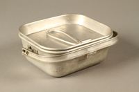 2016.372.6 a-b closed Mess kit metal plate with lid  Click to enlarge