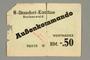 Buchenwald Aussenkommando scrip, -.50 Reichsmark issued to an inmate