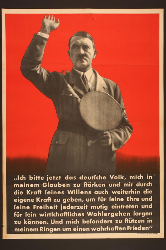 2015.562.14 front Nazi propaganda poster featuring Hitler