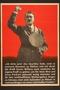Nazi propaganda poster featuring Hitler