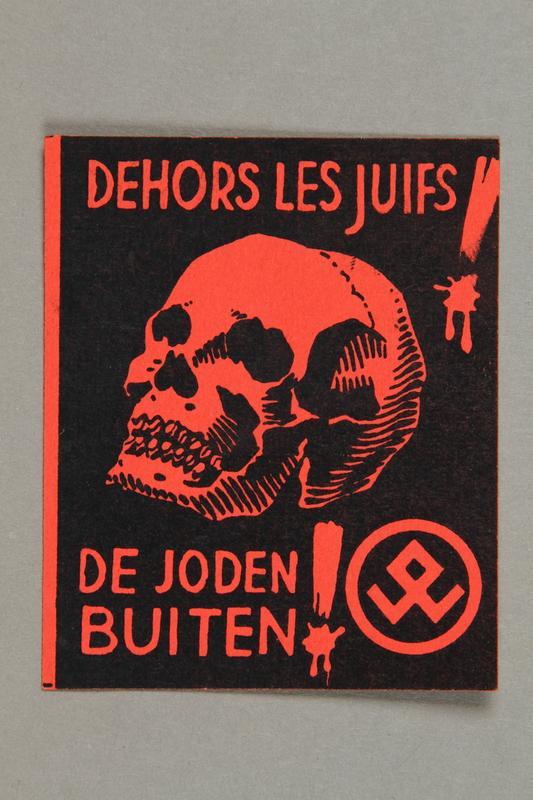 2016.184.684.4 front La Defense du People anti-Jewish propaganda stamp
