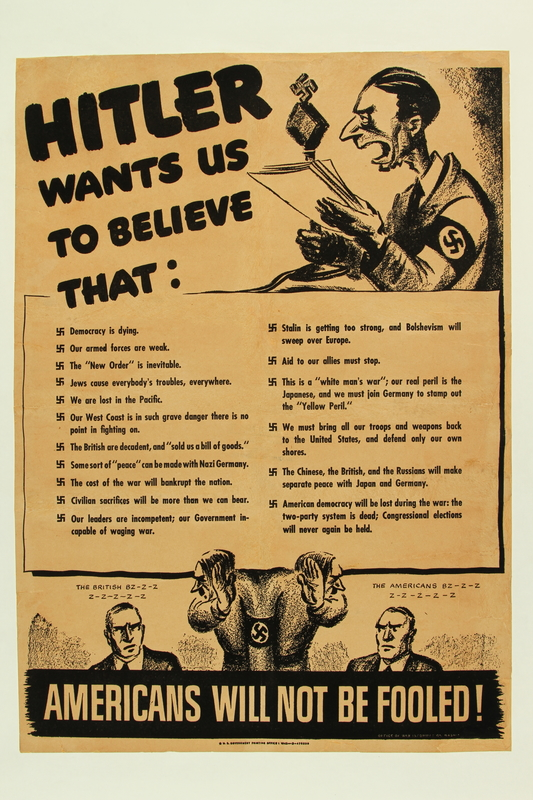 2015.597.2 front Hitler Wants Us to Believe poster