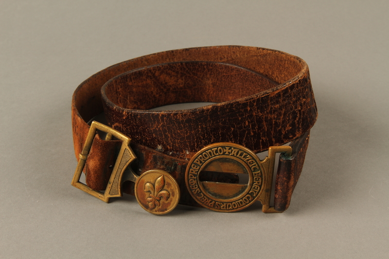 2016.473.2 front Boy Scout belt owned by a German Jewish refugee