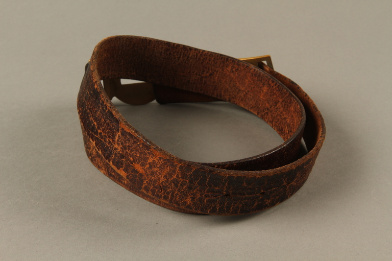 2016.473.2 back Boy Scout belt owned by a German Jewish refugee
