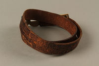 2016.473.2 back Boy Scout belt owned by a German Jewish refugee  Click to enlarge