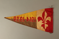 2016.473.3 back Boy Scout pennant with fleur de lis and 1914-1939 owned by a German Jewish refugee  Click to enlarge