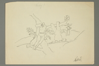 2016.473.24 front Sketch of figures in a landscape with trees  Click to enlarge