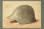 Drawing of an army helmet