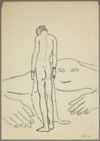 2016.473.10 front Drawing of a man in shackles  Click to enlarge