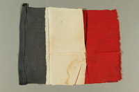 2016.457.2 front French flag brought back by an American soldier  Click to enlarge