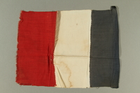 2016.457.2 back French flag brought back by an American soldier  Click to enlarge
