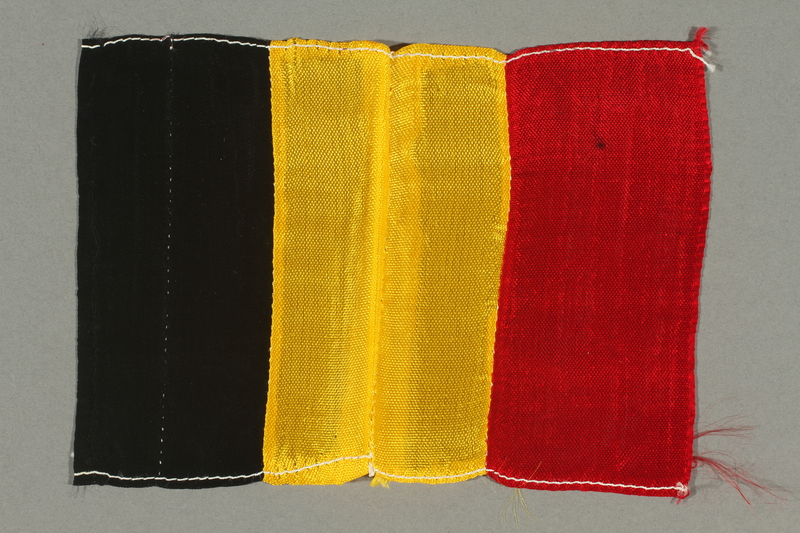 2016.457.3 front Belgian flag brought back by an American soldier