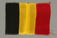 2016.457.3 front Belgian flag brought back by an American soldier  Click to enlarge