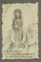Drawing of the Virgin Mary by an American concentration camp inmate