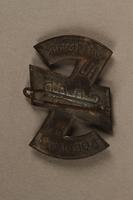 2016.471.4 back Hitler Youth Saar Westmark Koblenz pin  Click to enlarge