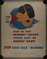 2015.562.20 front US careless talk poster warning of spies  Click to enlarge