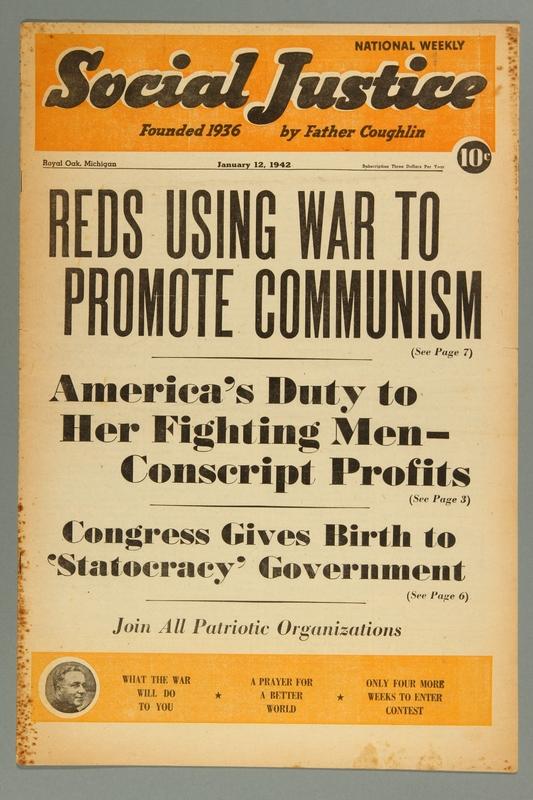 2016.184.233.37 front Social justice, January 12, 1942, Vol. 9, no. 2