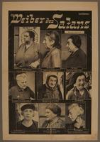 2016.184.859 front Full sheet from Der Sturmer with photos of different Jews  Click to enlarge