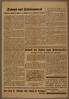 2016.184.859 back Full sheet from Der Sturmer with photos of different Jews  Click to enlarge