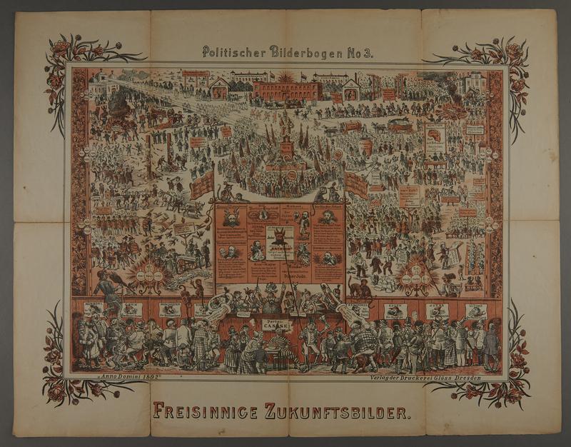 2016.184.716.3 front 19 posters from the series Politischer Bilderbogen