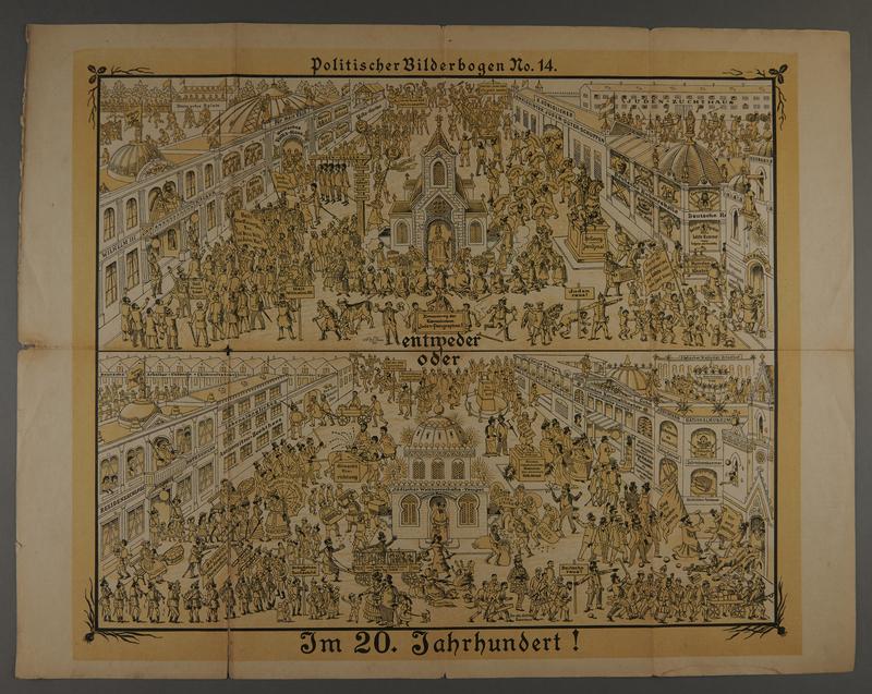 2016.184.716.14 front 19 posters from the series Politischer Bilderbogen